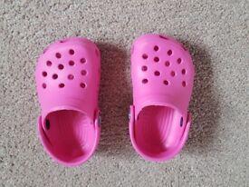 Crocs - Pink Kids Size W4 M5