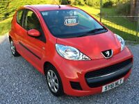 2011 PEUGEOT 107 3DR **£30 ROAD TAX**12 MONTH WARRANTY**FINANCE ARRANGED**PX WELCOME
