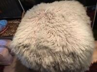 Large Luxury Sheepskin Pouffe