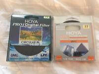 Hoya pro 1 digital CPF & Hoya HMC UV(c) Filter both 77mm