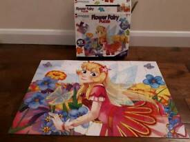 Flower Fairy 45 large piece puzzle with glitter pieces