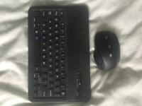 Bluetooth keyboard and mouse for tablet