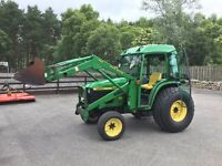 John Deere 4500 4WD Compact Tractor with JD460 Loader, Bucket and Forks