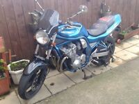suzuki gsf600s bandit,excellent condition, with extras,full m.o.t,ready for the summer,bargain £1000