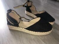 Chained Espadrille Size 3