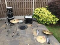 FULL DRUM KIT AND DRUM SILENCERS