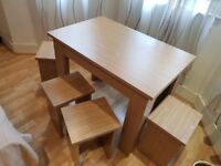 Modern dining table with chairs