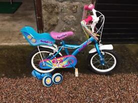 """Girls Apollo Pom Pom Bike 14"""""""