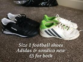 Adidas and sondico Astro's both for £5