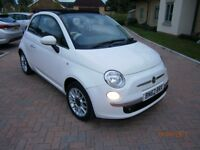 2012 FIAT 500 CONVERTIBLE LOUNGE WITH HALF LEATHER SEATS NEW MOT