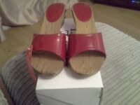 New Red Size 7 Sandals by Love Label