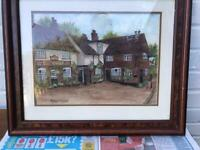 Watercolour signed framed painting