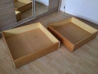 2 underbed storage drawers