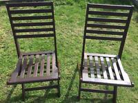 Garden folding chairs