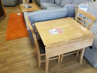 Two seater dining table and two chairs
