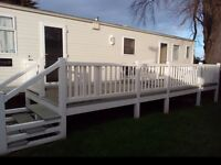 caravan decking with steps and gate