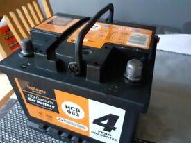 Halfords Car Battery 4 year guarantee HCB063 12v calcium car battery