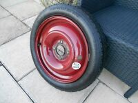 Citroen classic car space saver spare wheel and continental tyre parts