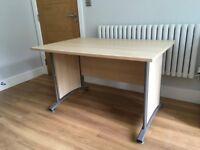 Desk - Pale wood laminate with metal legs