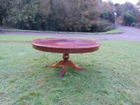 Large Round Coffee Table With Brass Claw Legs