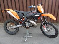 Ktm 250 Exc (2008 model 57 Reg) road registered enduro bike .not trail trials motocross 125 300 450