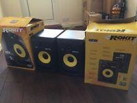 KRK Rokit RP8 G3 - Studio Monitors - Pair, 2 x Jack Leads