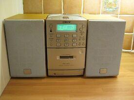 Sony Mini CD/Radio/Casette Stereo set up