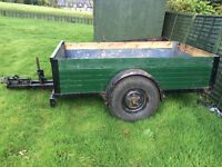 8x4 ex army strong trailer. Able to very comfortably carry 3 tonnes!