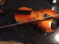 Stentor children's wooden violin with bow and resin case included