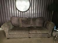 Large fabric sofa and cuddle chair