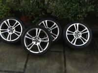 18 inch alloys in a perfect condition
