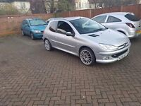 2005 peugeot 206 with customised 4 exhausts .. real headturner only £400
