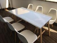 White Ikea table and six chairs for £200 altogether!!