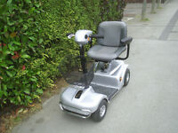 SILVER RASCAL 4 MPH mobility scooter 21 stone user limit, good condition