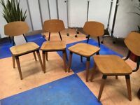 Set of 4 Wooden Dining Chairs Cafe Restaurant Take away/Commercial Catering Dining Chairs/