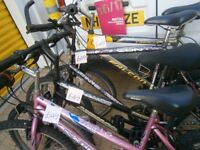 Used Bike from £45, new / second hand bicycle parts, bikes Lock, cycle tyres / tubes (full range)