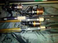 A job lot of fishing gear
