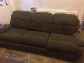 Sofa and chair free to a good home