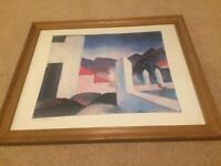 Picture frame and painting 22 x 18 inches Landscape Tunis 1914 August Macke