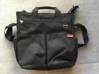 Skip Hop Black changing bag with mat