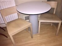 Stylish table with 2 chairs