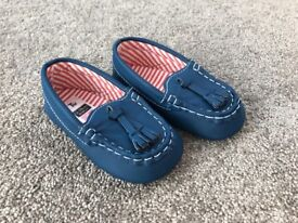 Boys blue loafers 12-18 months