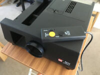 Slide Projector with Screen and Stand.