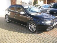 2005 SEAT LEON FR 1.9 TDI (150) MET/BLACK 5DOOR 6SPEED (ONE OWNER)