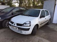 2002 Renault Clio 1.2 115 Miles, 2 Months Mot Bargain £275