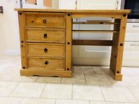 Lovely Pine Dressing table / TV Unit / Desk with drawers in good condition