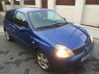 RENAULT CLIO CAMPUS 1.2 L **MOT 21/7/17 NO ADVISORIES** 5 STAMPS, NEW CLUTCH/CAMBELT AT 65K £995