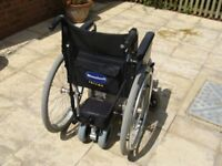 Wheelchair Power Pack and Wheeltech Enigma Self propelled wheelchair