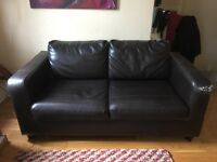 Faux leather 2 seater sofa-bed for sale