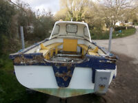 Coastal fishing boat and trailer